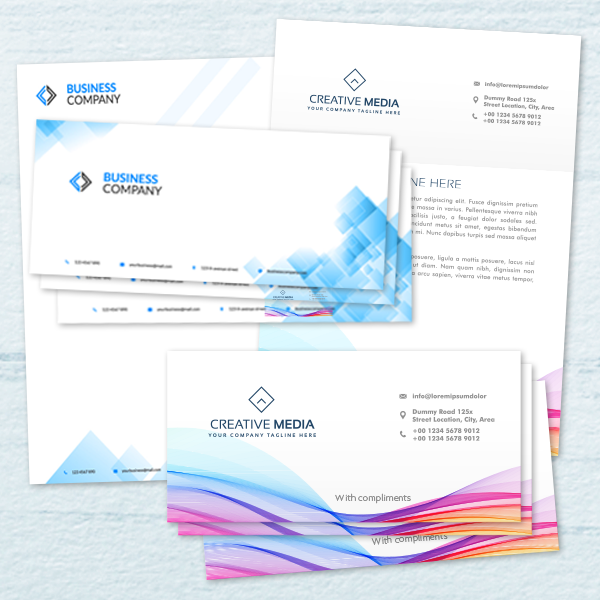 Letterheads and compliment slips