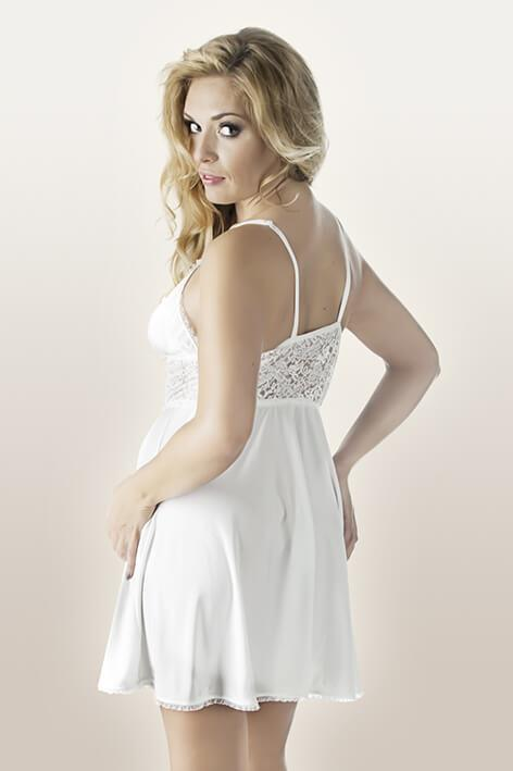 Plus Size Ivory Babydoll rear view