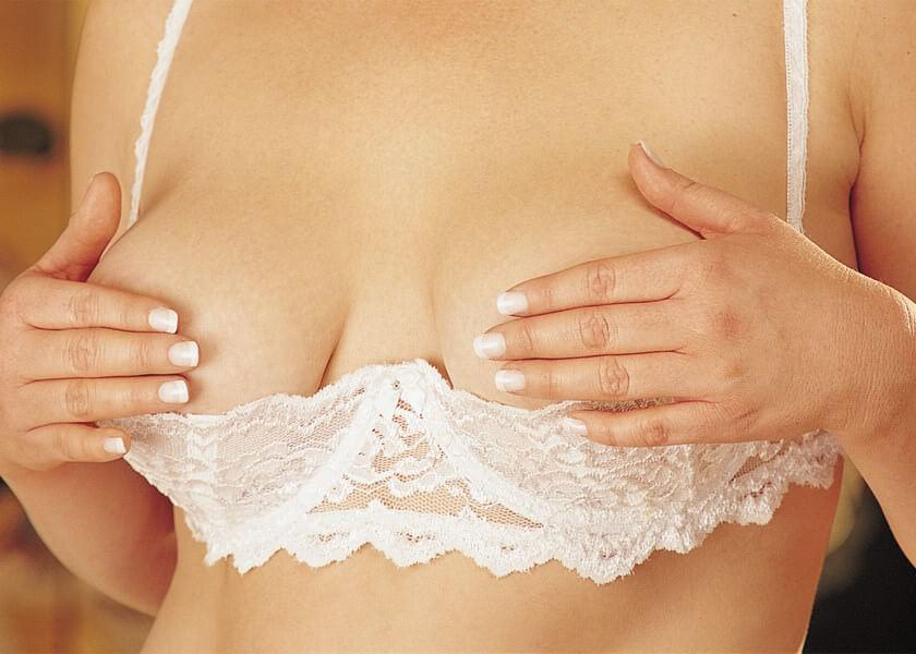 White Open Cup Shelf Bra