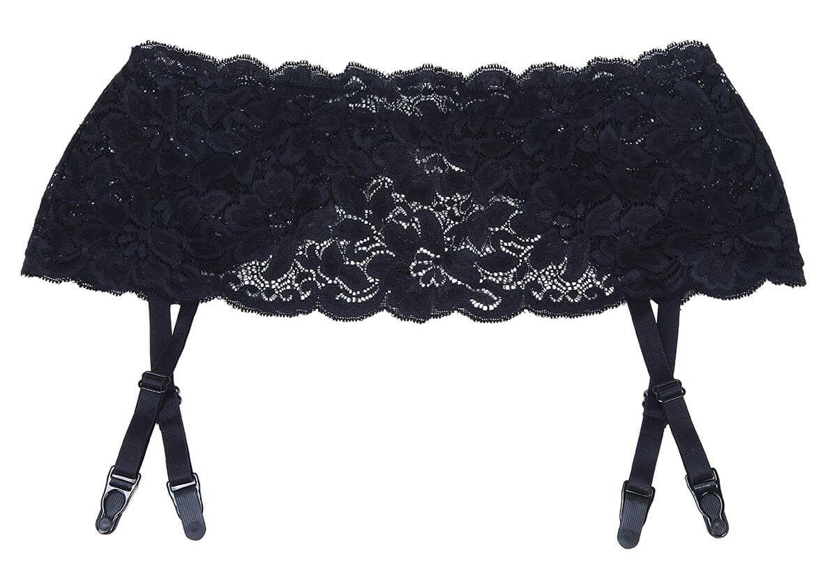 Black Lace Plus Size Garter Belt