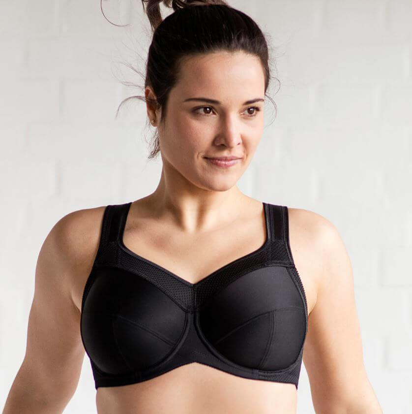 Kate Soft Cup Sports Bra Black