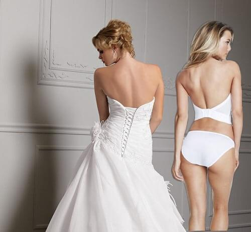 Strapless Backless Bustier rear view