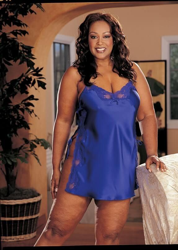 Blue Charmeuse Babydoll With Side Closure