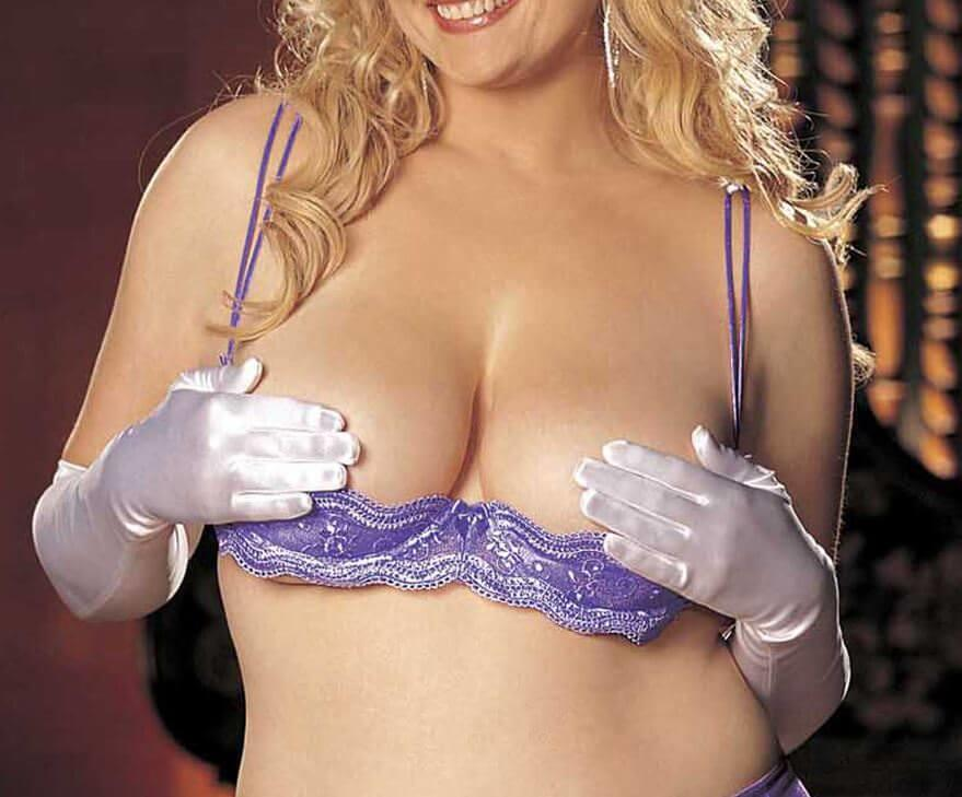 Lilac Open Cup Shelf Bra