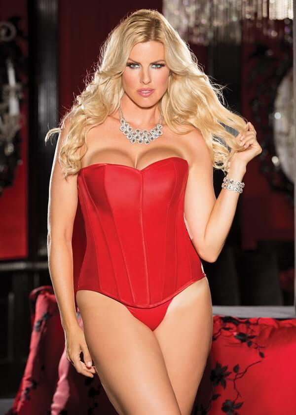 Heavy Satin Strapless Corset Set