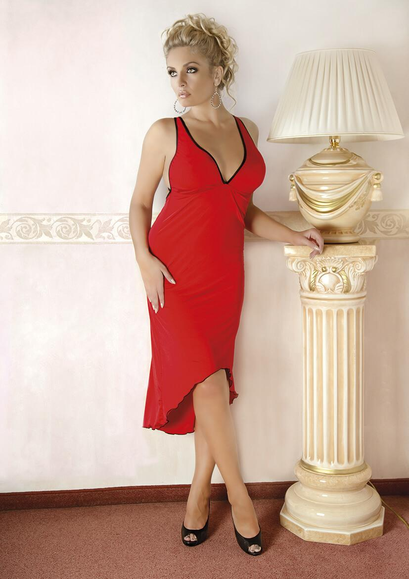 Plus Size Long Red Nightgown