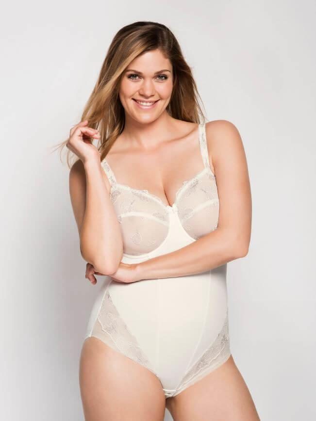 Ecru Carla Underwired Bodysuit
