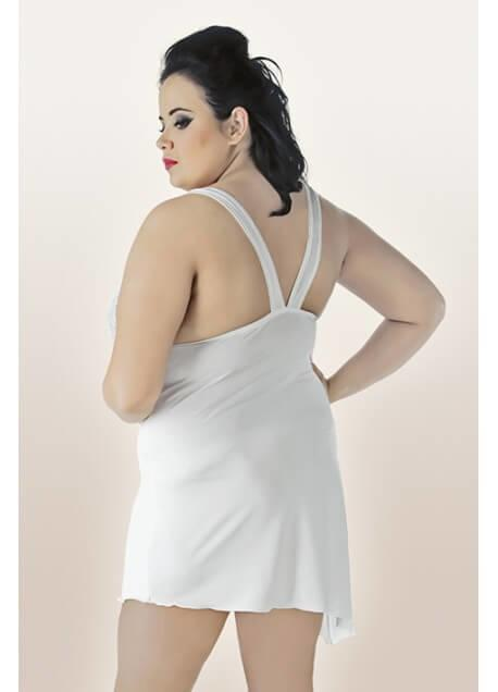Neige White Plus Size Chemise rear view