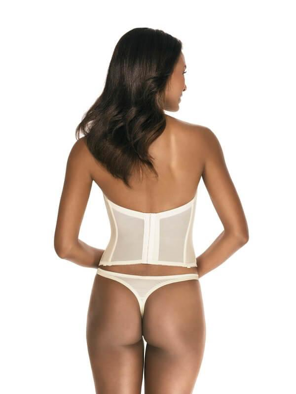Strapless Low Back Brasselette rear view