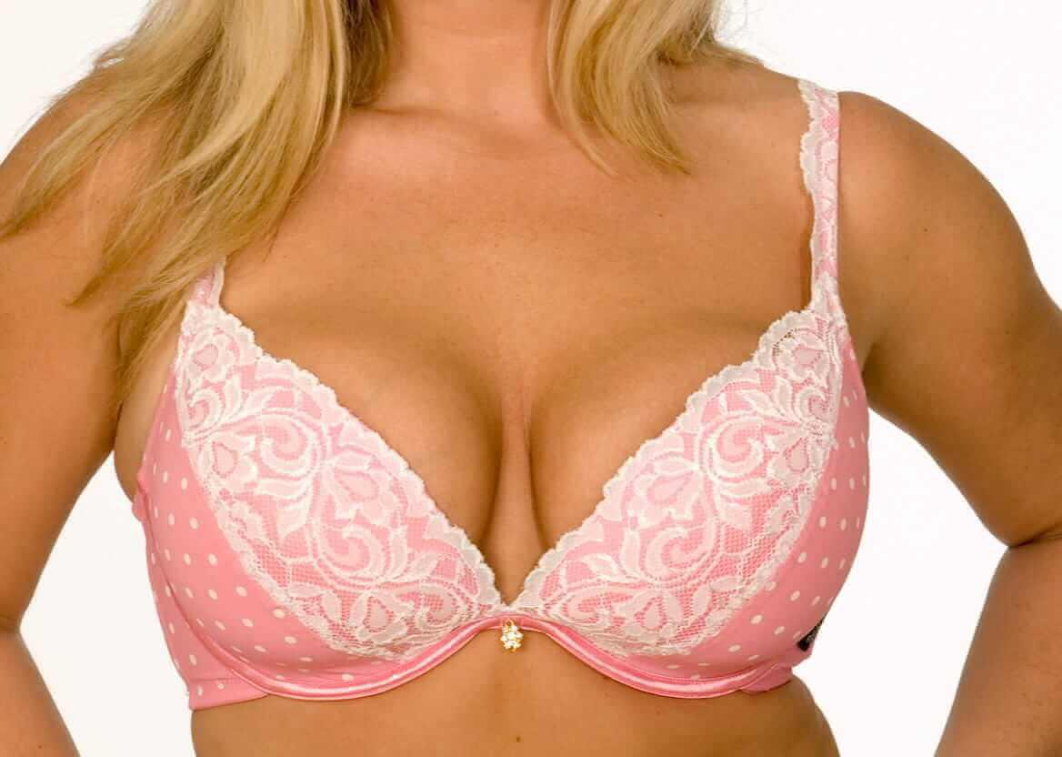 Plunge Bra with Padded Cups