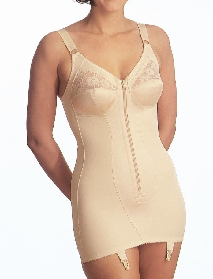 Plus Size Corselette with Zip Front