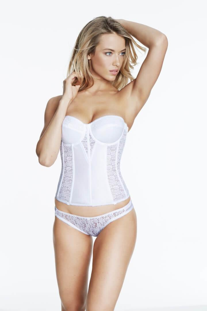 Low Back Strapless Bridal Basque