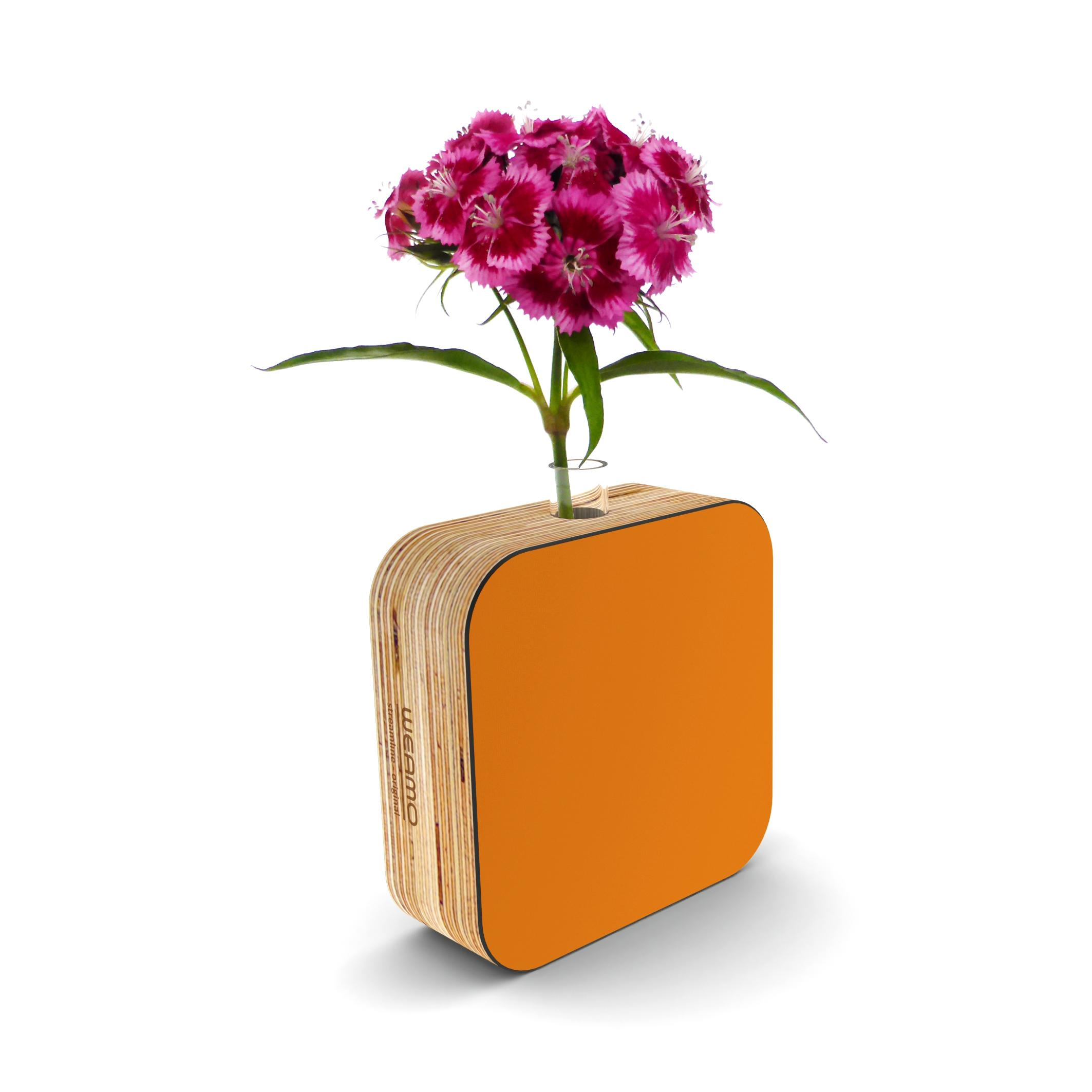 Streamline Original Bud Vase Ginger Snap Orange