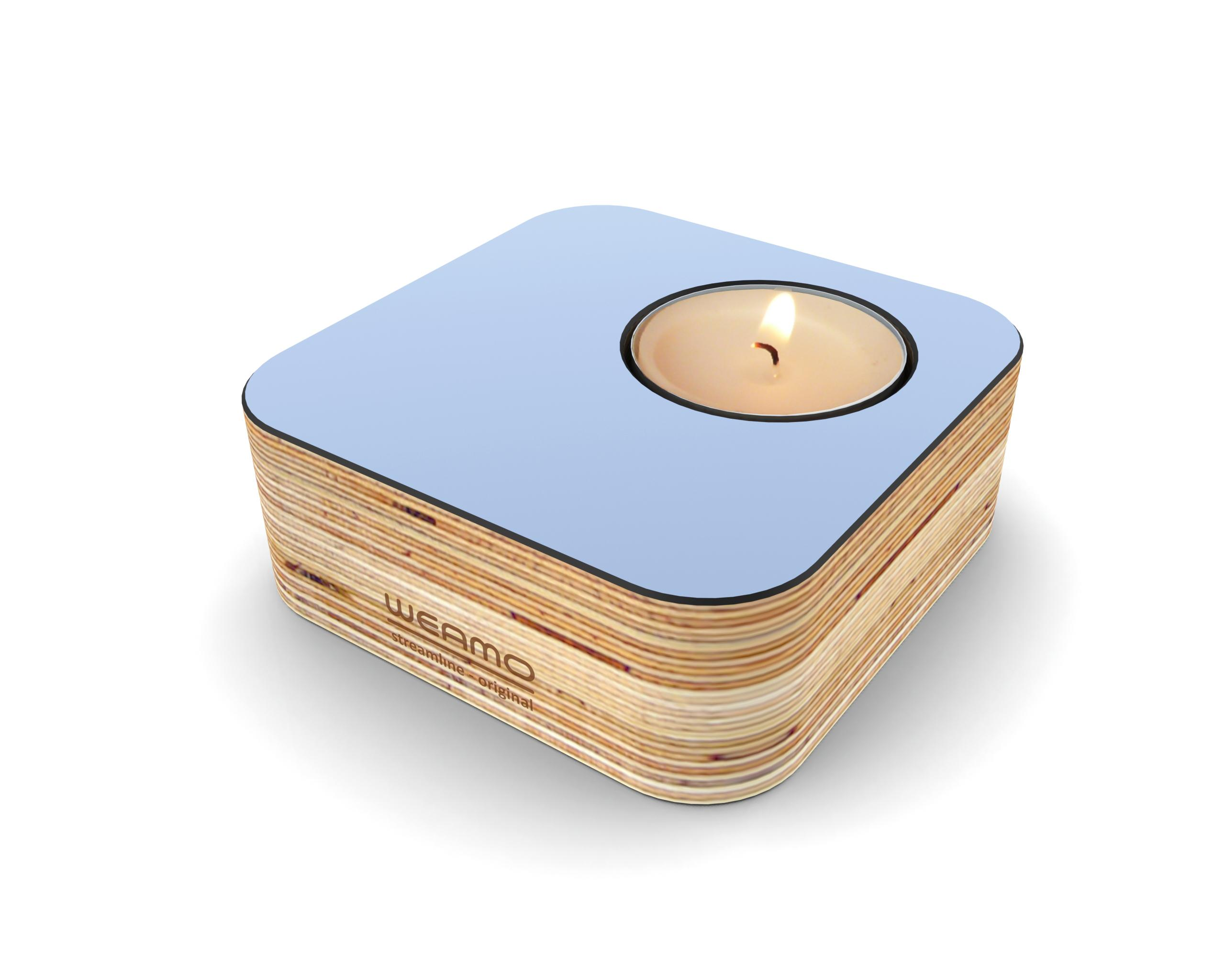 Streamline Original Tealight Holder_Breaking Wave Light Blue