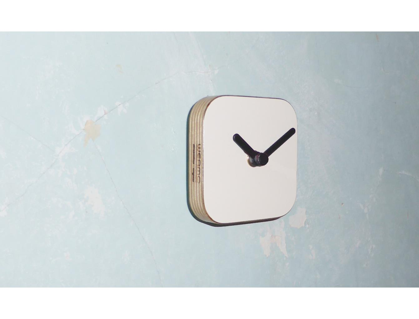WEAMO Small Wall Clock - Clotted Cream White