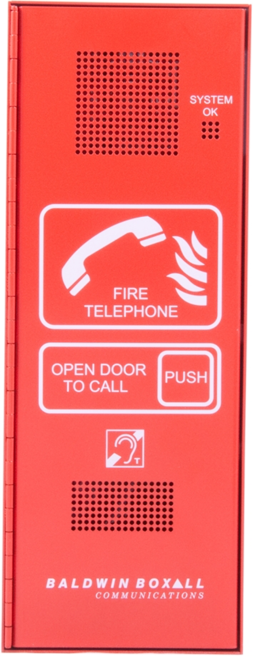 Baldwin Boxall OmniCare BVOCFB Type-A Fire Telephone with Push Door and Beacon Red