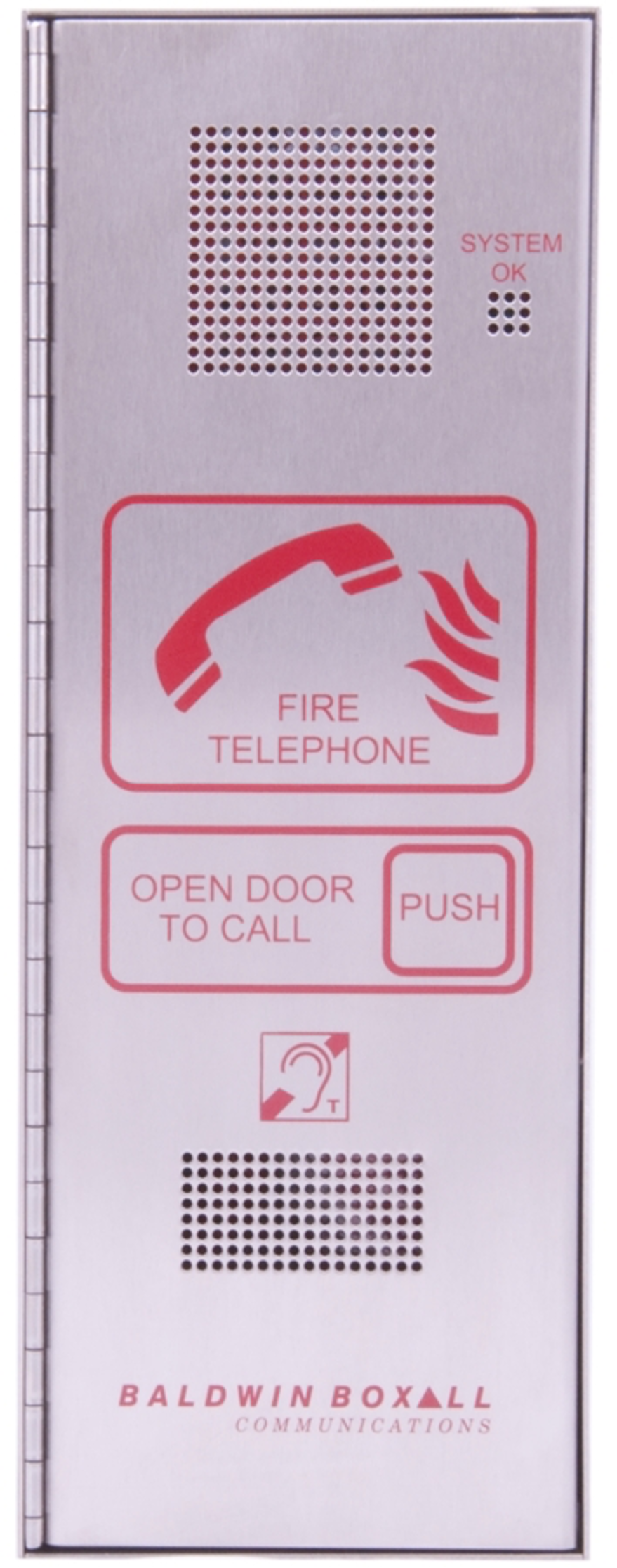 Baldwin Boxall OmniCare BVOCFS Type-A Fire Telephone with Push Door Stainless Steel