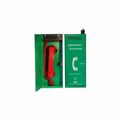 Baldwin Boxall CARE2 C2ETGP Type-A Steward Telephone With Push Door Green