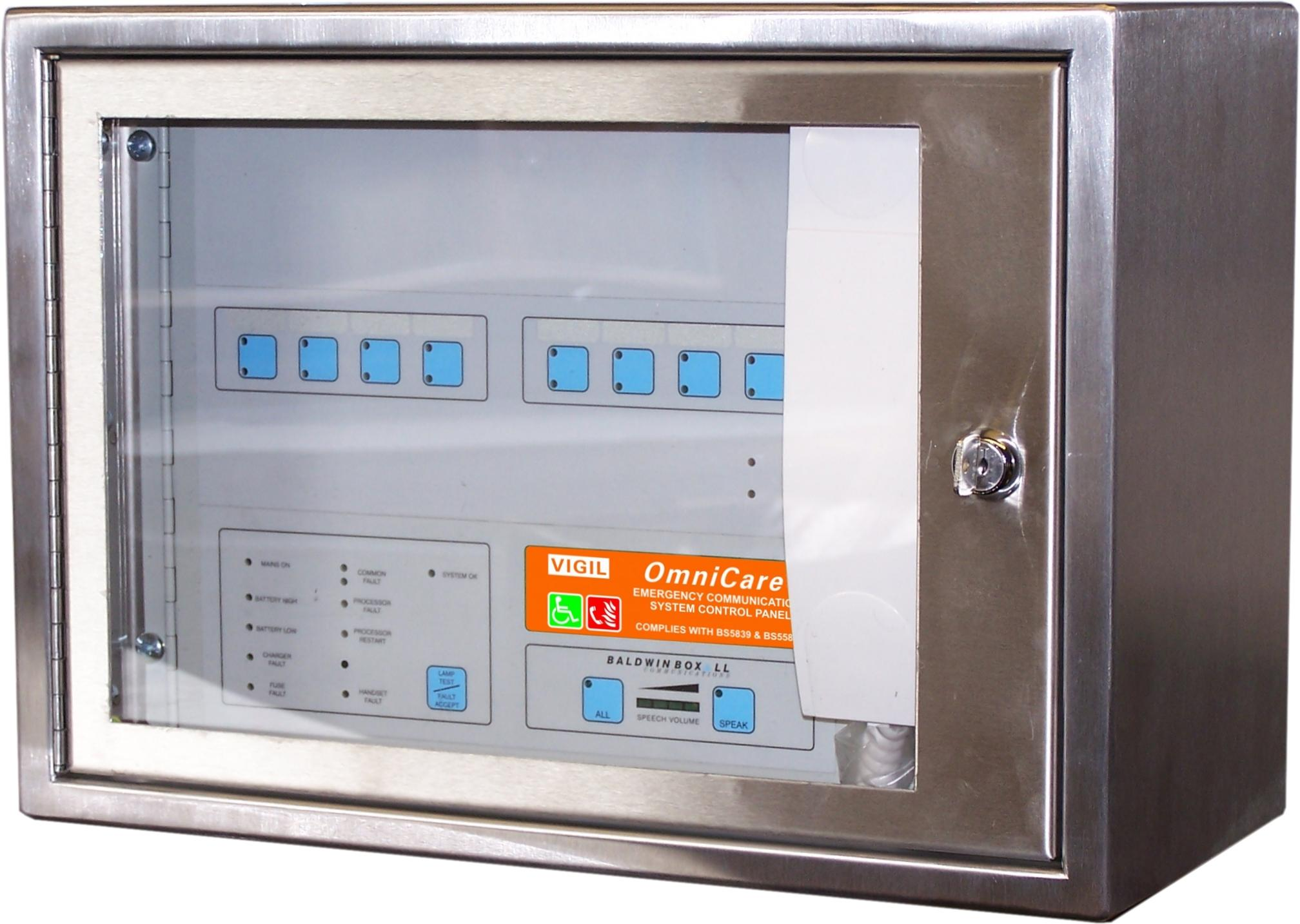 PAI Group Web Shop | Baldwin Boxall OmniCare BVOC8MS Mini Master Control Panel 4-Way Stainless Steel