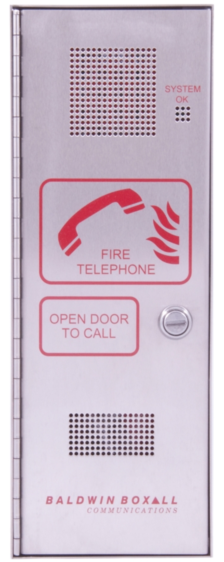 Baldwin Boxall OmniCare BVOCFSL Type-A Fire Telephone with Locking Door Stainless Steel