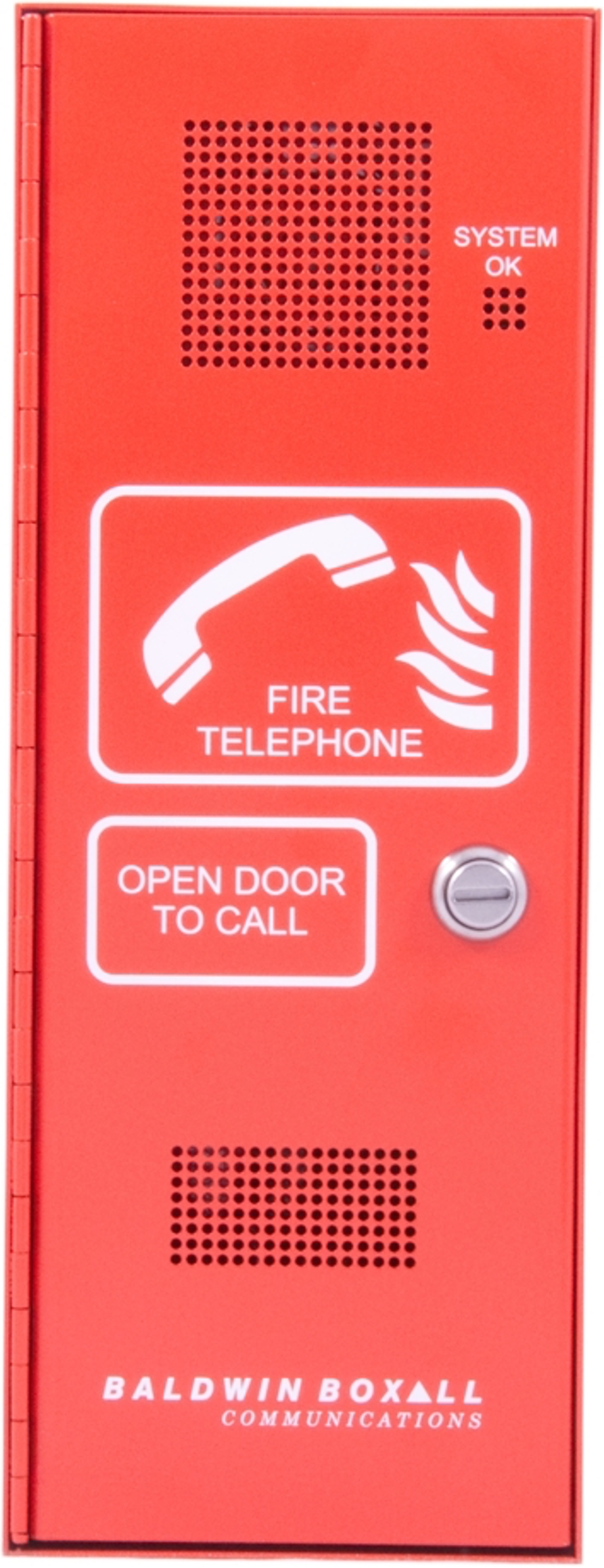 Baldwin Boxall OmniCare BVOCFLB Type-A Fire Telephone with Locking Door and Beacon Red