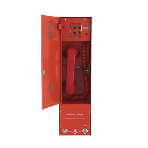 Baldwin Boxall OmniCare BVOCCB Combined Type-A & Type-B Outstation Disabled Refuge & Fire Telephone Push Door and Beacon Red