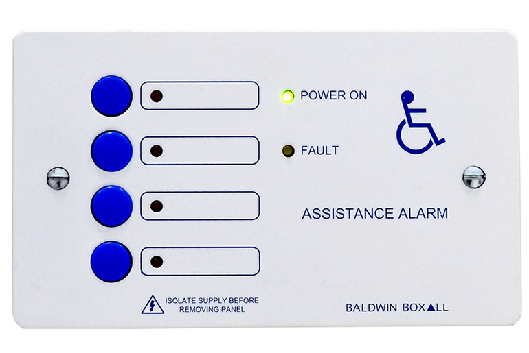 Baldwin Boxall OmniCare & CARE2 DTA4 Disabled Toilet Alarm 4-Way Control Panel White