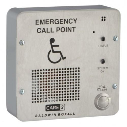 Baldwin Boxall CARE2 C2RRSPB Type-B Disabled Refuge Remote Plasterboard Backbox Flush Bezel Stainless Steel