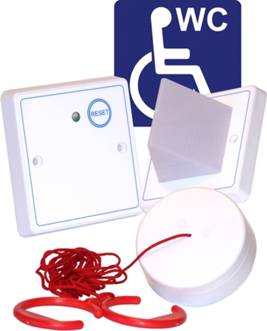 Baldwin Boxall OmniCare & CARE2 DTAKIT Three-Part Disabled Toilet Alarm Kit White