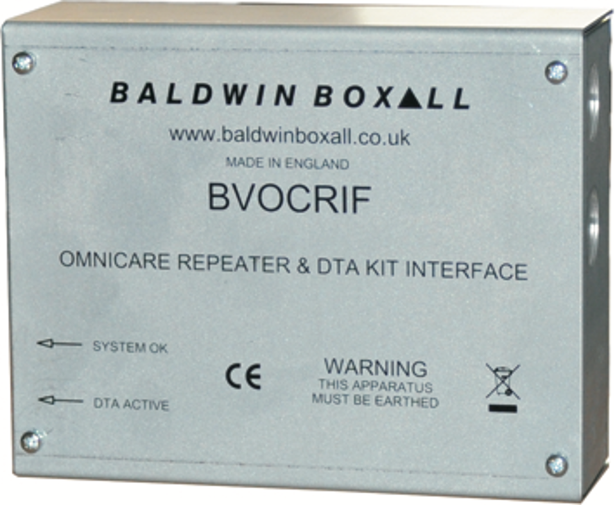 Baldwin Boxall OmniCare & CARE2 BVOCRIF Repeater & Disabled Toilet Alarm Kit Interface
