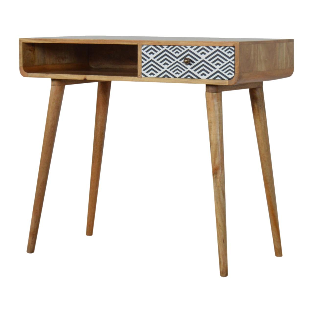 Monochrome Print Writing Desk