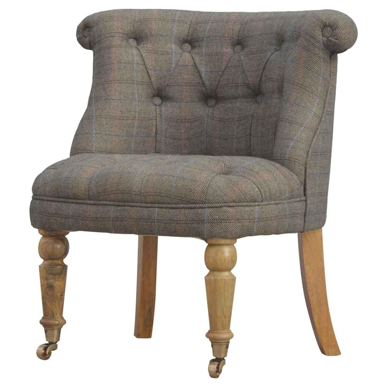 Petite Multi-tweed Accent Chair