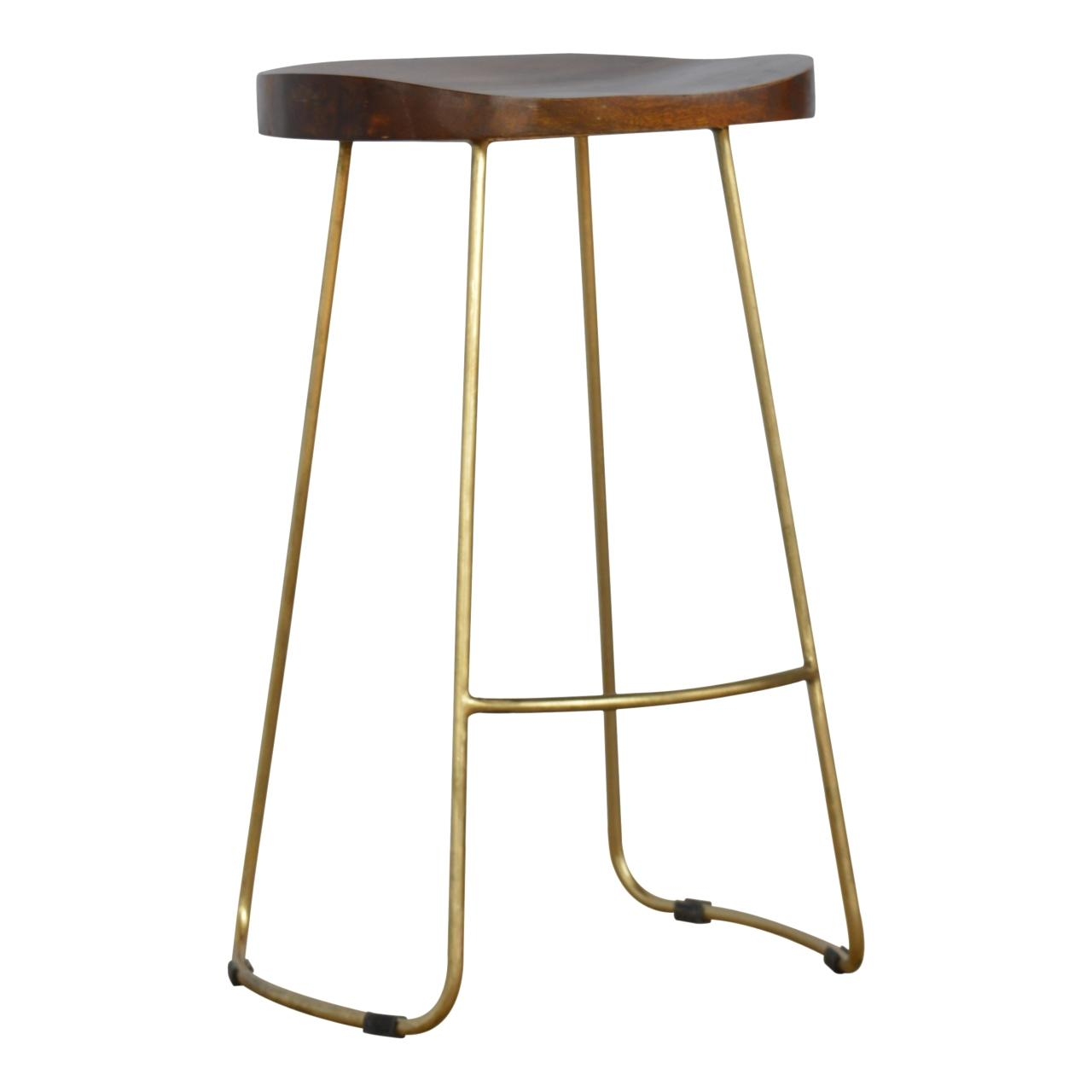 Gold Iron Bar Stool