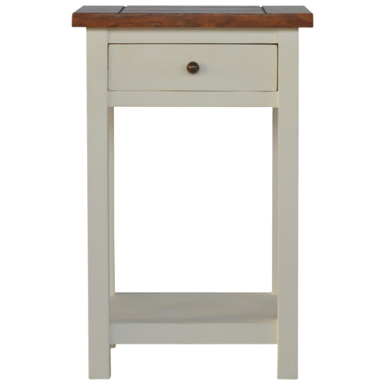 Two Toned Bedside Table With 1 Drawer