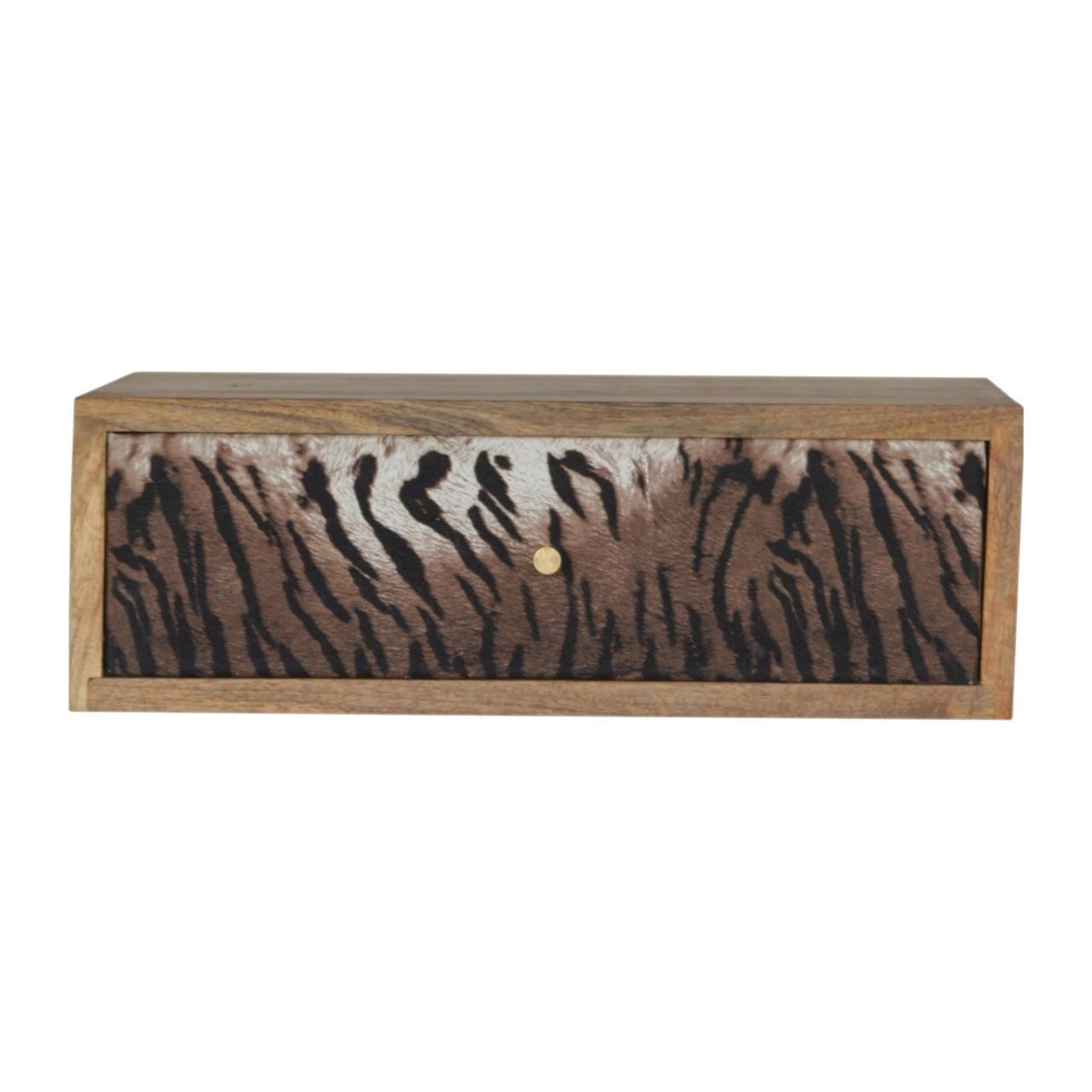 Wall Mounted Animal Print Bedside