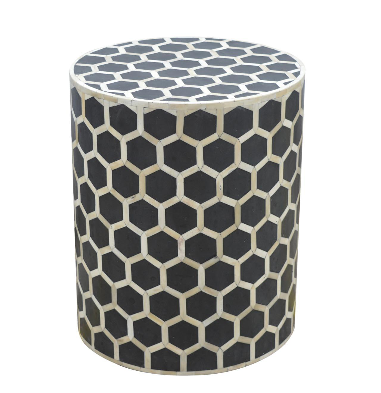 Bone Inlay Occasional Stool