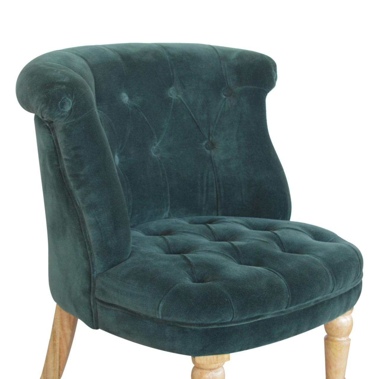 Emerald Green Velvet Accent Chair