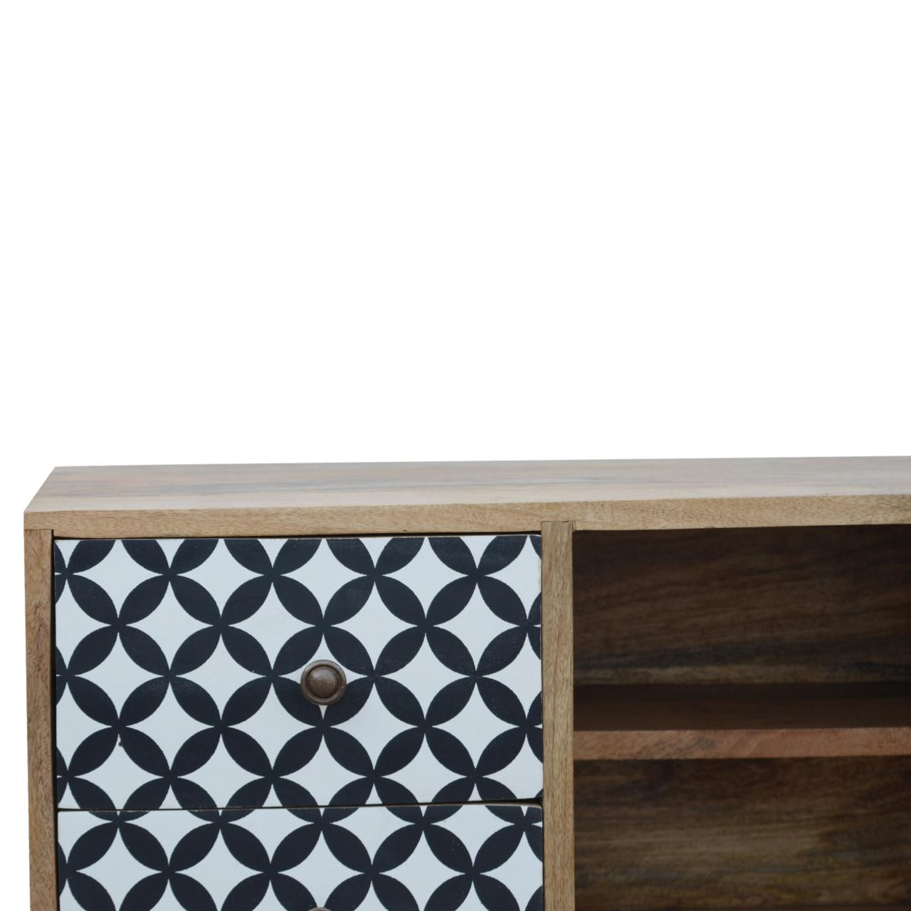 District Diamond Patterned Mini Cabinet