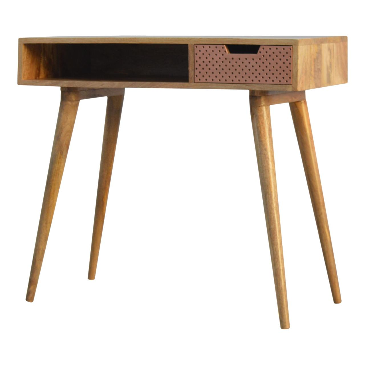 Perforated Copper Writing Desk