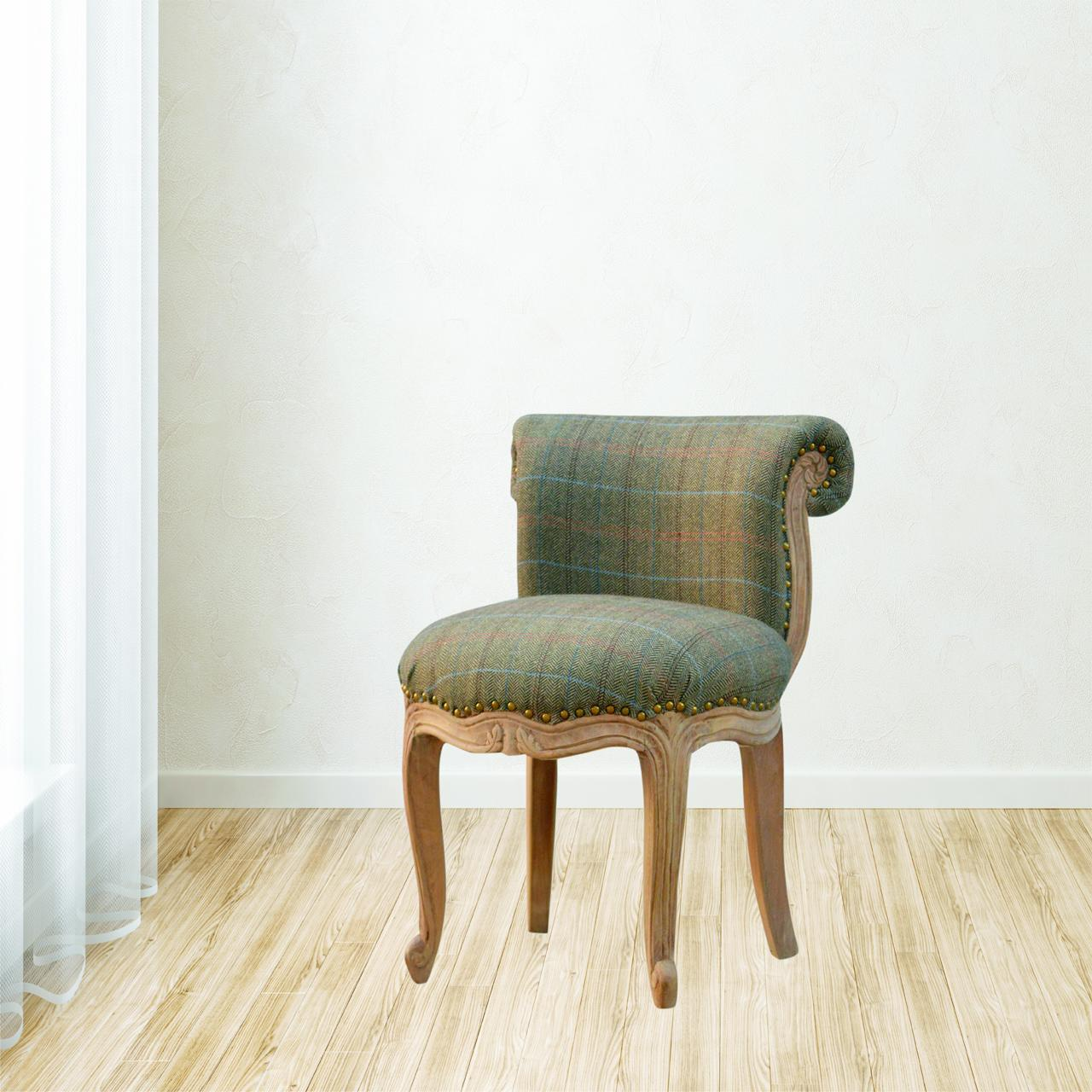 Petite Multi Tweed French Chair