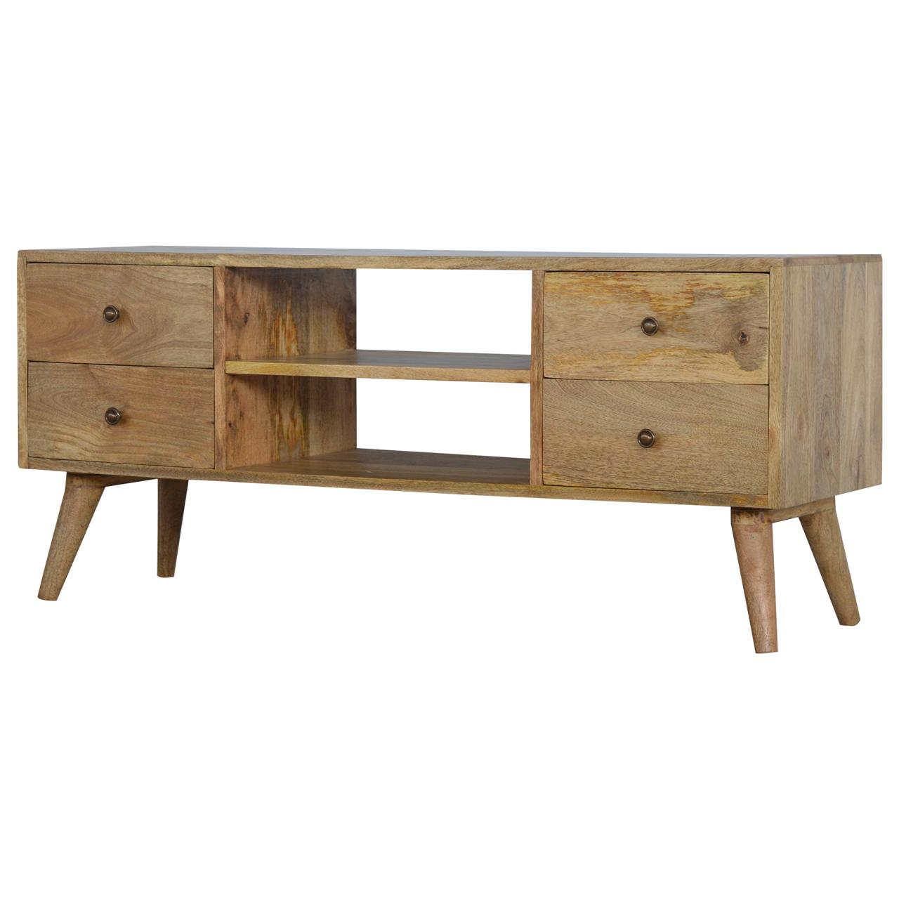 Nordic Style Media Unit With 4 Drawers