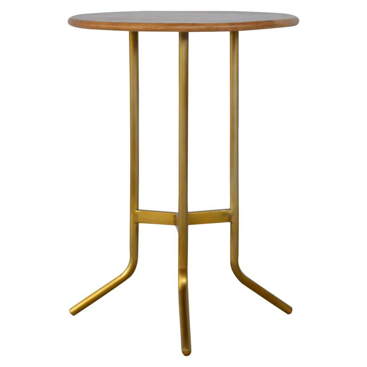 Caramel Tea Table With Gold Base