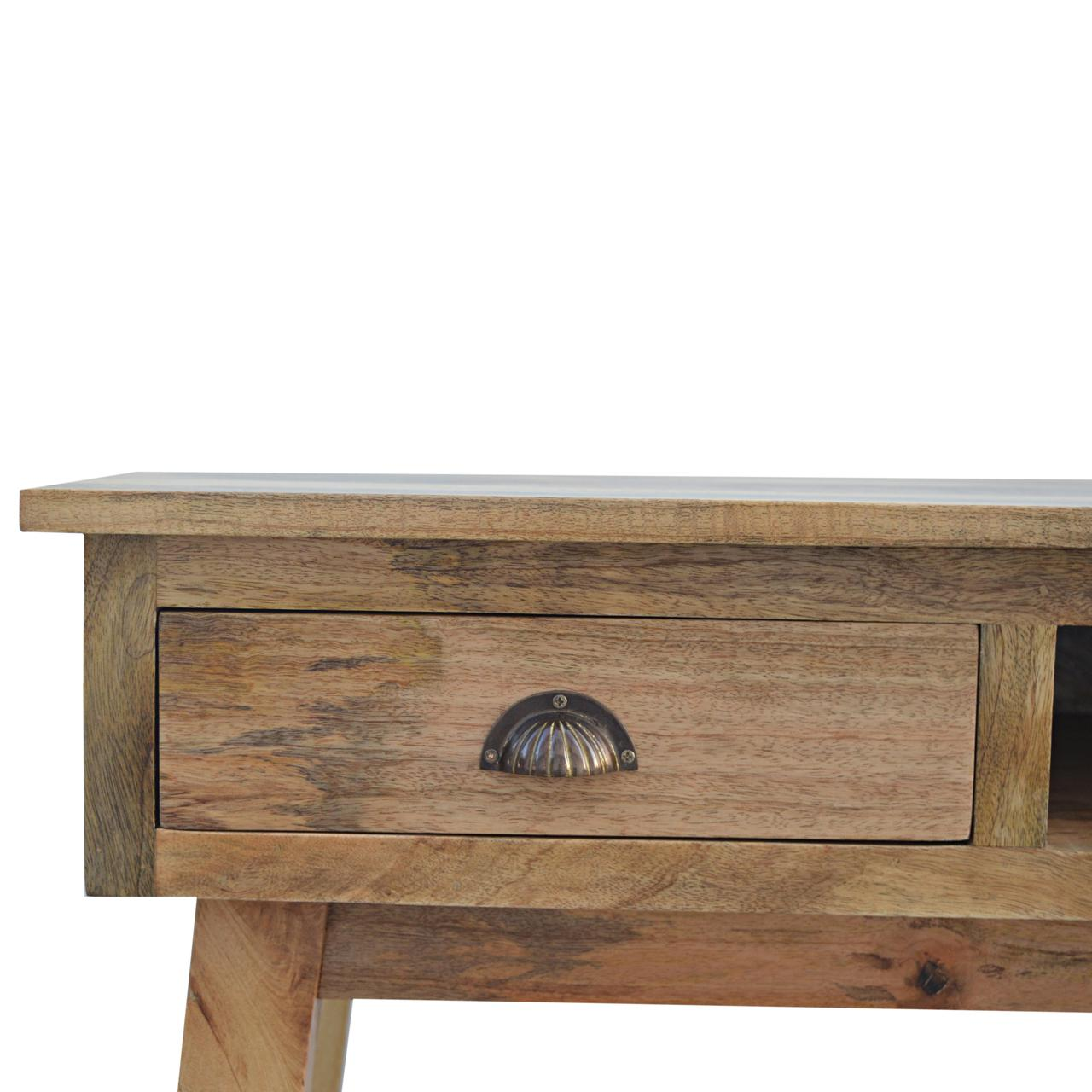 Solid Wood Writing Desk With Two Drawers