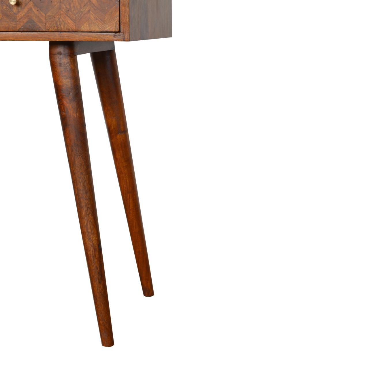 Assorted Chestnut Console Table