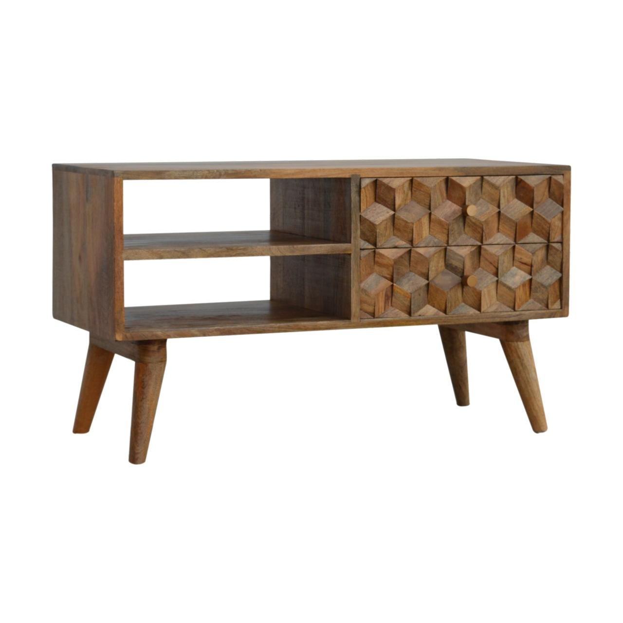 Cube Carved Media Unit