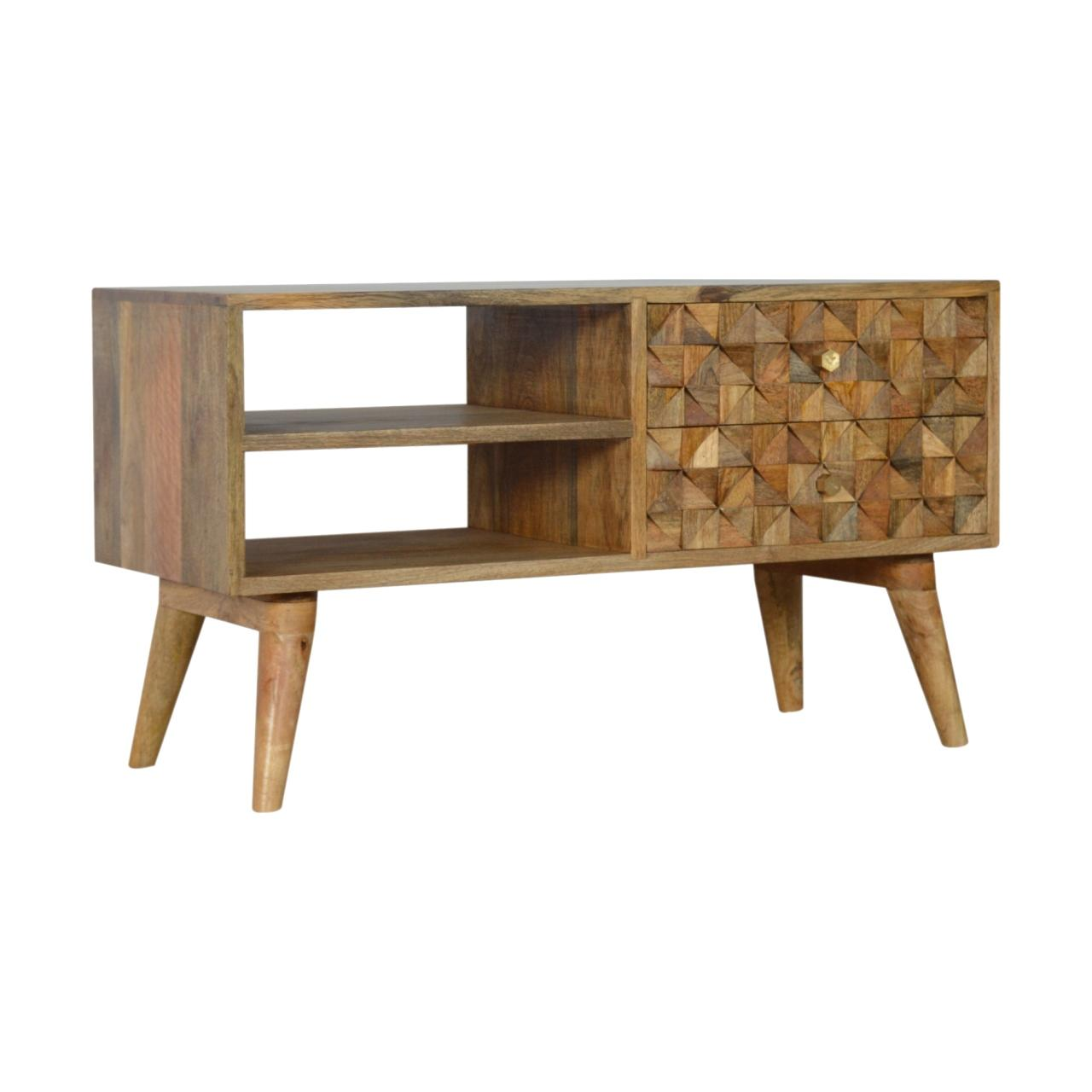 Diamond Carved Media Unit