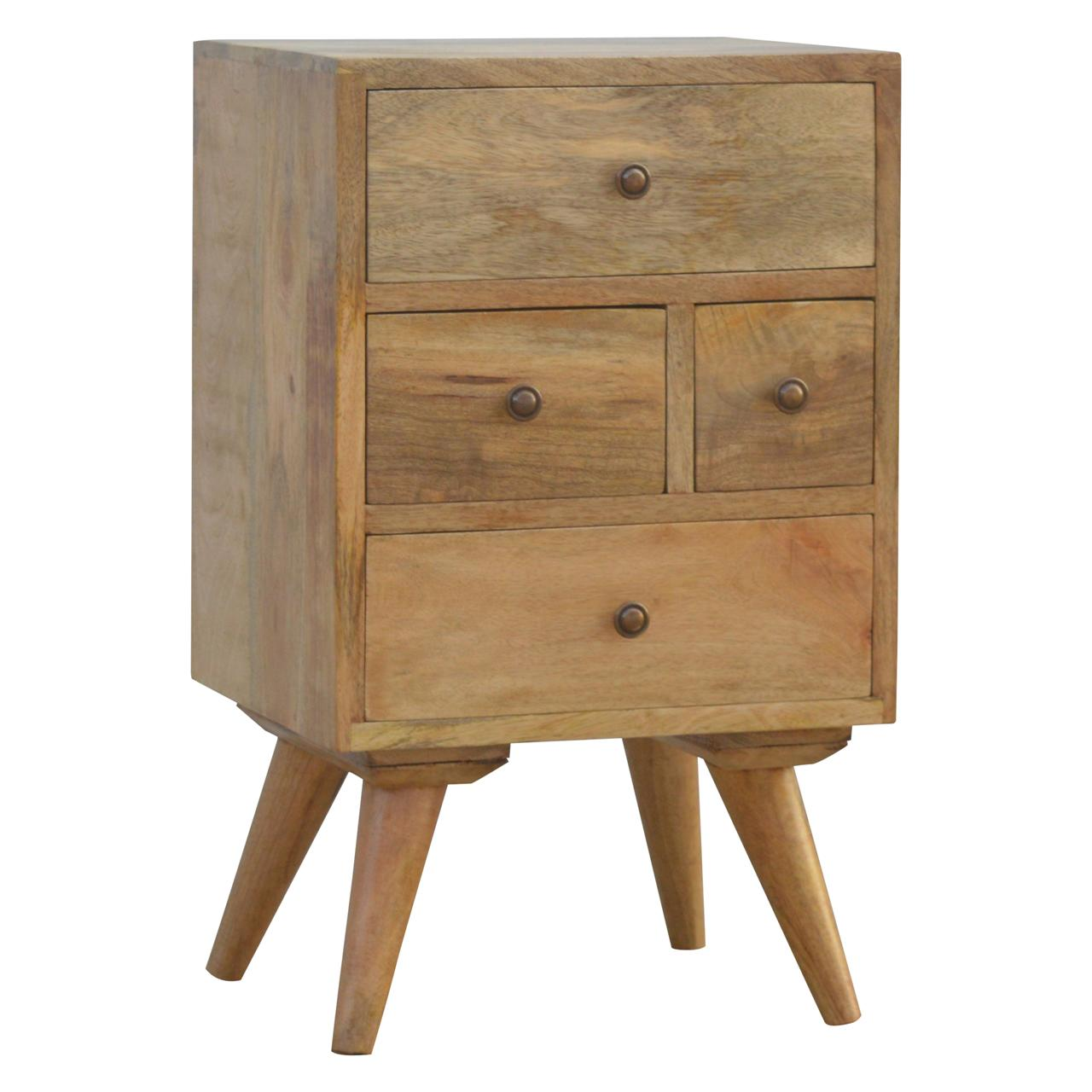 Nordic Style 4 Drawer Multi Bedside