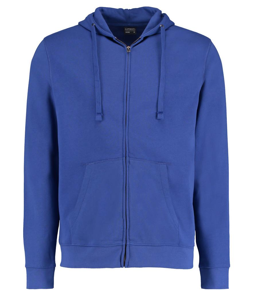 royal blue k303 kustom kit zipped hoodie