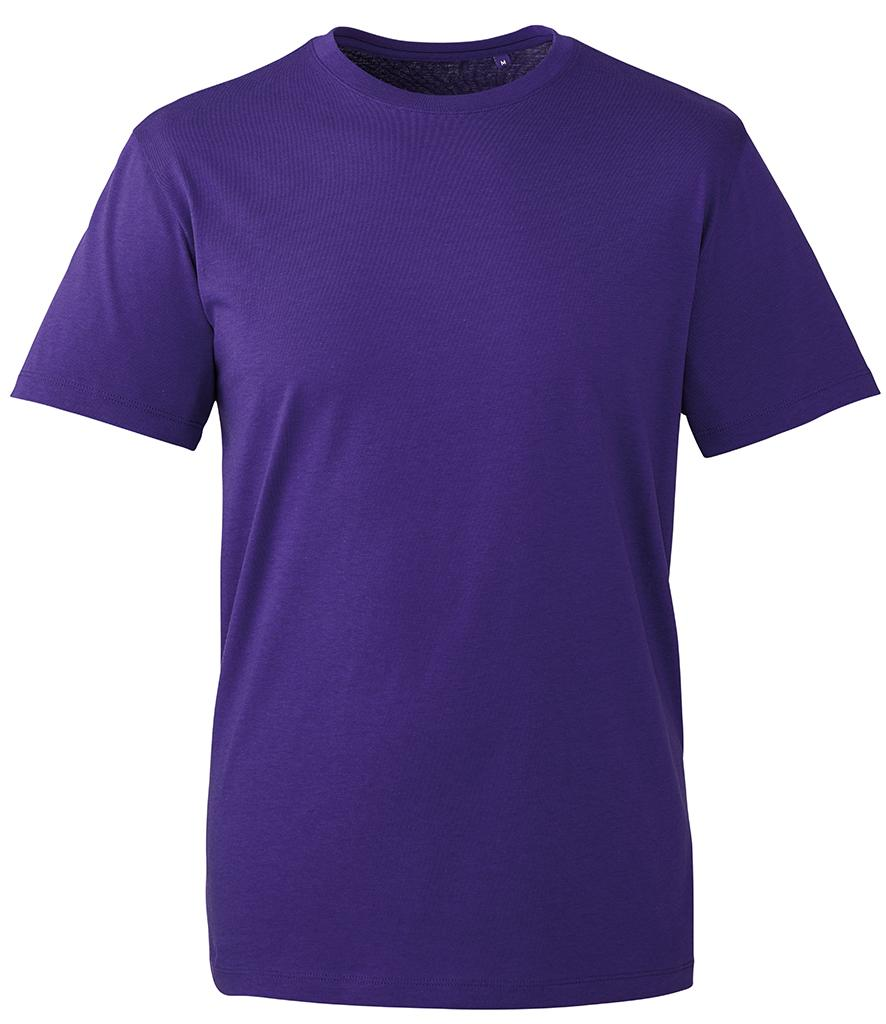 purple organic t-shirt anthem