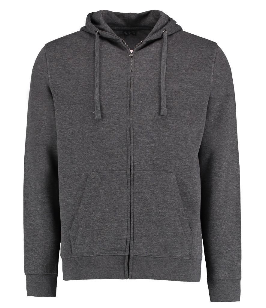 dark grey marl k303 kustom kit zipped hoodie
